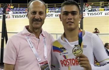 Fabián Puerta primer oro para Colombia en Mundial de Pista