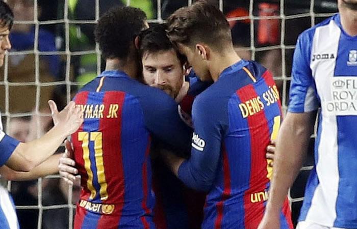 Lionel Messi salva al Barcelona. Foto: EFE
