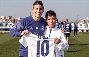 James Rodríguez conoció al niño que ayudó a Chapecoense