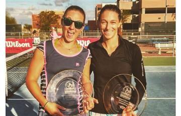 Mariana Duque gana título de dobles en el ITF de Sunrise