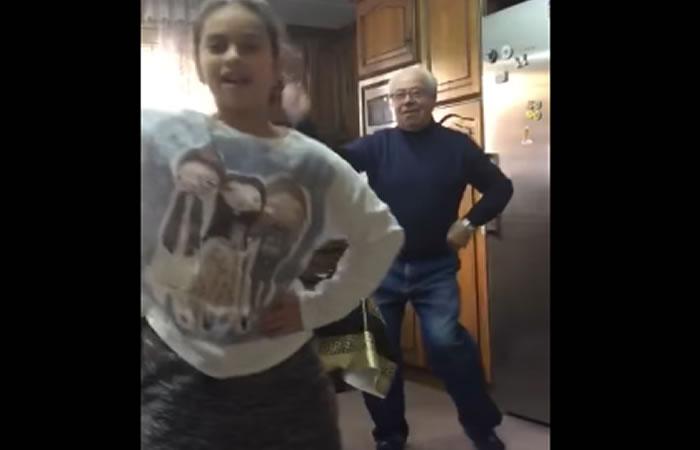 Abuelo es furor en redes. Foto: Youtube