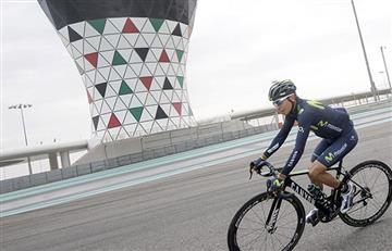 Nairo Quintana llegó a Abu Dhabi y es sensación por este entrenamiento