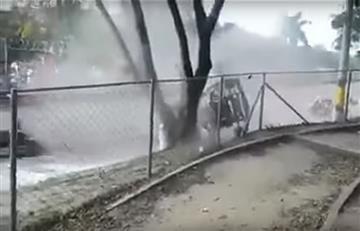 Video: Piloto Sebastián Mesa sufre trágico accidente y se graba en cámaras