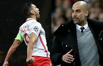 Falcao García: Así reaccionó Guardiola ante el golazo del colombiano