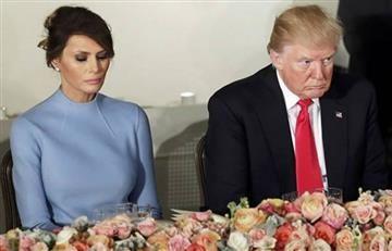 Melania no oculta su incomodidad con Donald Trump