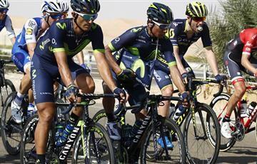 Nairo Quintana sobrevivió a la locura del Tour de Abu Dhabi