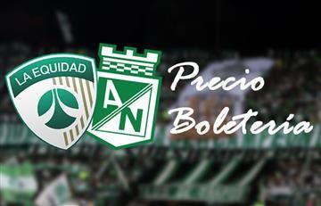 Equidad vs. Nacional: Precio de la boletería (Estadio El Campín)