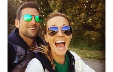 Novak Djokovic transmite en directo por error, una discusión con su novia