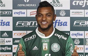 Miguel Ángel Borja tuvo el mejor debut de todos con el Palmeiras