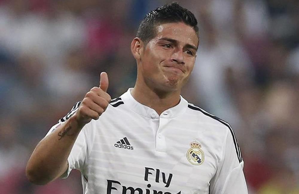 James Rodríguez no pudo jugar su partido 100 con el Real Madrid