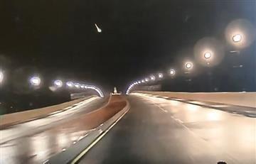 Estados Unidos: Captan la caída de gran meteorito