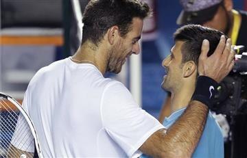 Djokovic vence a Del Potro y ve en el horizonte a Nadal