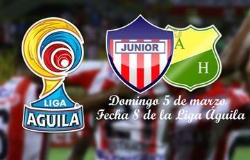Junior vs. Atlético Huila: Hora y transmisión EN VIVO