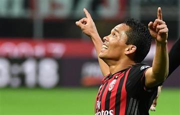 Bacca marcó doblete en victoria del Milán