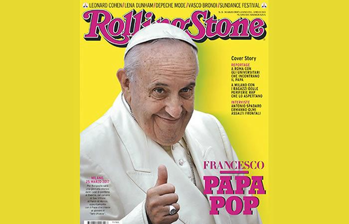 El papa protagoniza la nueva portada de Rolling Stone