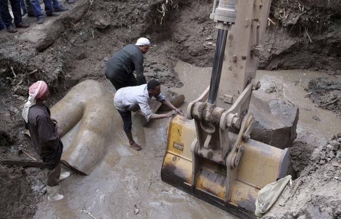 El Cairo: Hallan importantes estatuas de la historia arqueológica de Egipto