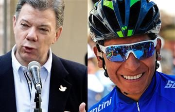 Nairo Quintana recibe este mensaje de Juan Manuel Santos