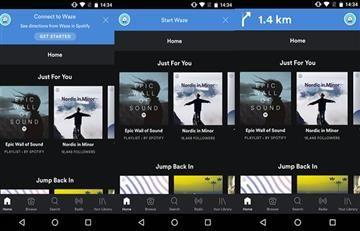 Spotify disponible en Waze