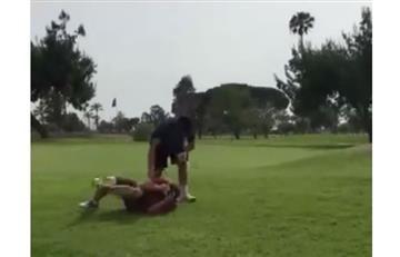 La ridícula pelea entre dos golfistas que hace reír al mundo