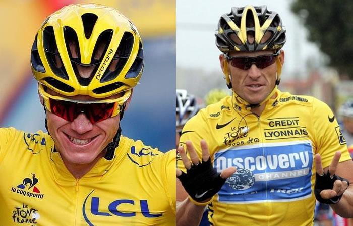 Froome es comparado con Lance Armstrong en este vídeo