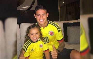 James Rodríguez y la 'tierna humillación' de su hija Salomé