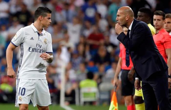James es 'ninguneado' por Zidane de nuevo