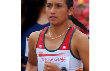 Angie Orjuela, podio en Maratón de Los Ángeles