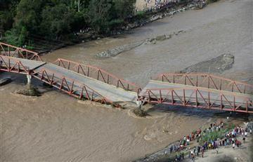Perú: Puente colapsó y dejó al menos tres desaparecidos