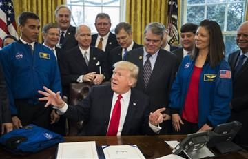Trump y la NASA se unen para enviar humanos a Marte