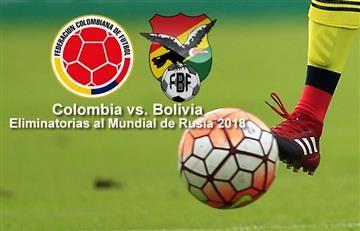 Colombia vs. Bolivia: Transmisión EN VIVO