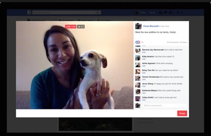 Facebook Live. Foto: Facebook