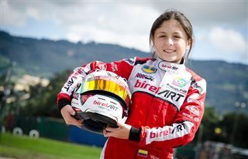 La colombiana de 12 años que es la única mujer en el CIK-FIA Karting