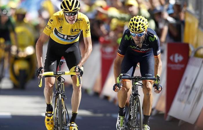 Froome recibe una lección de Valverde y tiembla el Tour de Francia