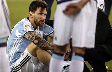 Messi sancionado con cuatro fechas sin jugar con la selección Argentina