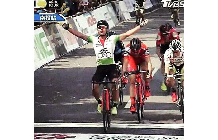Colombiano Edwin Ávila ganó la etapa 4 del Tour de Taiwán