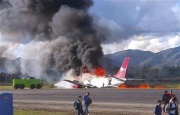 Perú: Se incendió un avión de Peruvian Airlines durante aterrizaje