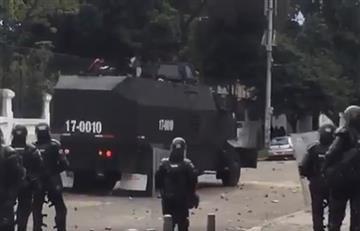 Bogotá: Protestas a las afueras de la Universidad Pedagógica