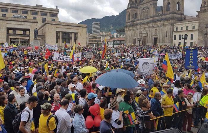 Así fue la marcha en contra del actual gobierno en Colombia