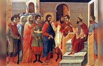 Viacrucis: Estación 1, Jesús condenado a muerte