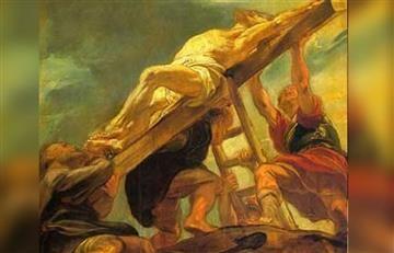 Viacrucis: Estación 11, Jesús clavado en la cruz