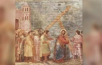 Viacrucis: Estación 2, Jesús carga con la cruz