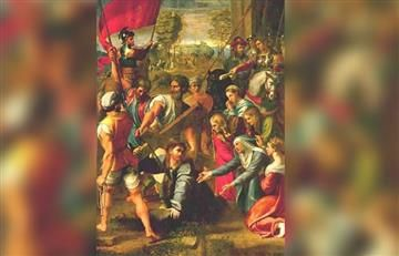 Viacrucis: Estación 3, Jesús cae por primera vez