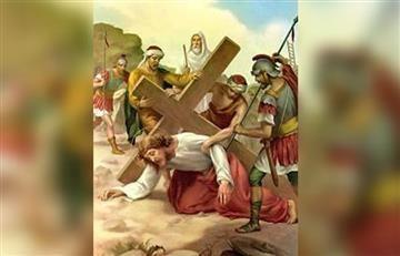 Viacrucis: Estación 9, Jesús cae por tercera vez