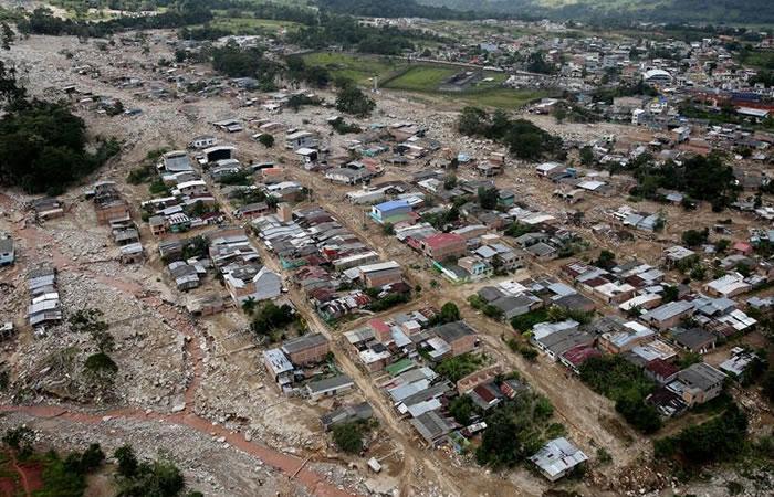 Mocoa tras la tragedia de la avalancha. Foto: EFE