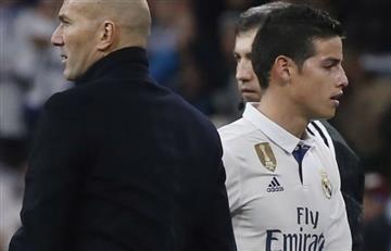 James Rodríguez y la iracunda reacción contra Zidane