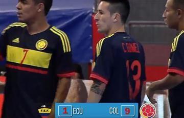 Selección Colombia aplastó a Ecuador en la Copa América de Futsal