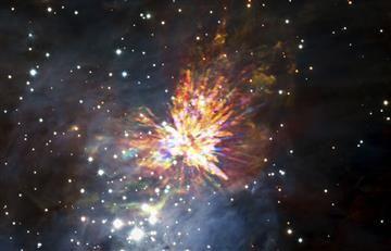 Astrónomoslogran capturar el nacimiento de una estrella
