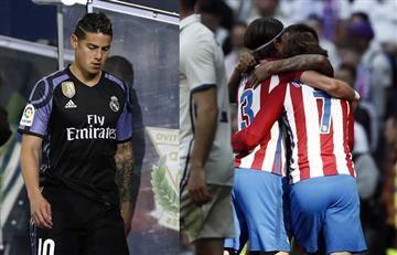 James Rodríguez no jugó en el empate del Madrid y el 'Atléti'
