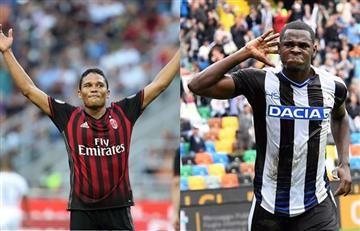 Bacca y Duván se reportaron con estos goles, en la Serie A