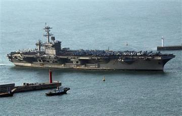 EE.UU. envió portaaviones a Corea del Norte como muestra de fuerza